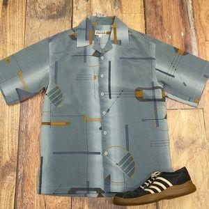 Mench Size Medium Vintage Polyester Shirt
